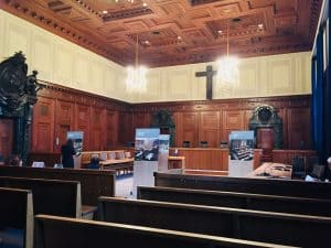 Inside of the courtroom