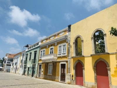 Colourful buildings in Tavira's old town