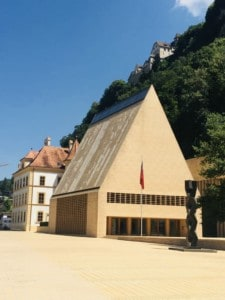 Picture of Vaduz's more modern Parliament building