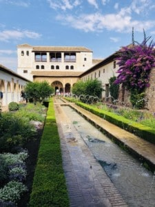 Picture of part of the Generalife summer residence for the kings