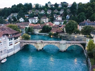 Image of Bern with the river