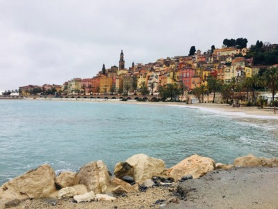 A view of the seafront in Menton