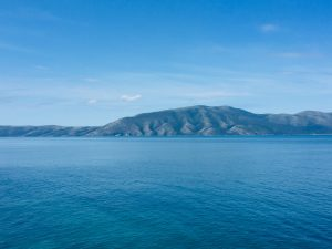 A view out across the sea in the Bay of Vlora.