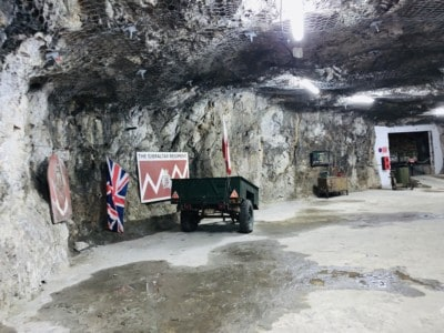 Inside the World War 2 tunnels with some military equipment
