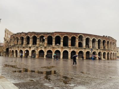 The Arena - a large amphitheatre.  You can see the numerous arches on the lower and upper level.