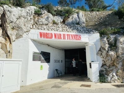 Picture of the outside of the World War 2 Tunnels in Gibraltar