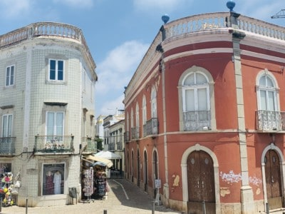 Colourful buildings in Tavira old town