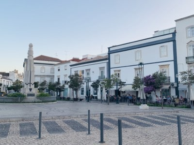 Tavira's Praca da Republica with it's al fresco cafes