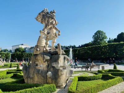 Statues in the Mirabell Gardens, part of our Sound of Music tour