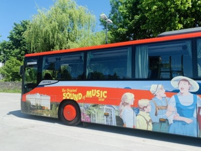 The coach we travelled on in our Sound of Music tour