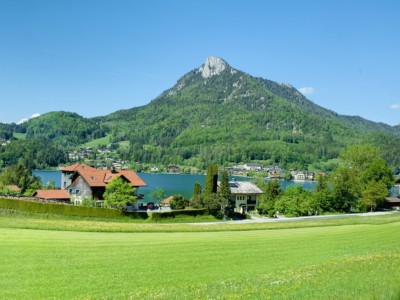 Beautiful alpine countryside in Fuschl am See in Austria, outside of Salzburg. We saw this en route to Mondsee on our Sound of Music tour