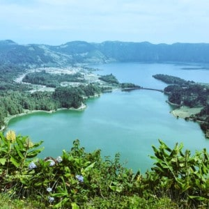The Caldeira das Setes Cidades - a beautiful blue/green volcanic crater on Sao Miguel island