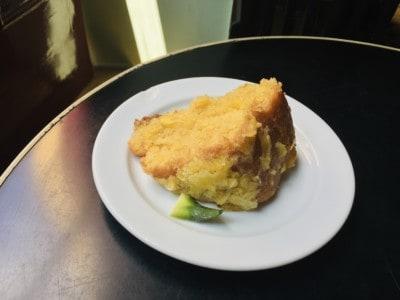 Pineapple cake in the Louvre de Michaelense cafe