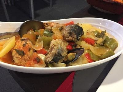 The Caldeirada de Peixe fish and seafood stew in Ponta Delgada
