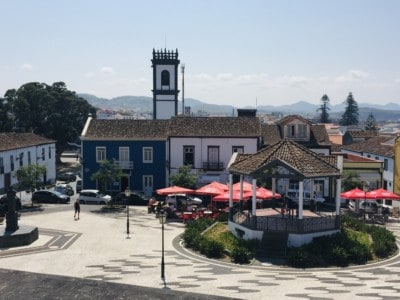 A pretty square in Rebecca Grande - visit on day 2 of your Sao Miguel itinerary