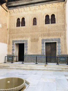 A picture of the section in the Nasrid Palace with the open and closed doors.  You can here a story about these doors on your visit to the Alhambra
