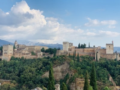 A view of the Alhambra from the Mirador de San Nicolas