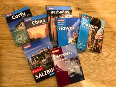 A selection of my Berlitz pocket guides - these would be ideal gifts for someone going travelling as they are small and slim
