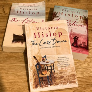 A selection of Victoria Hislop books that someone going travelling might enjoy reading while away