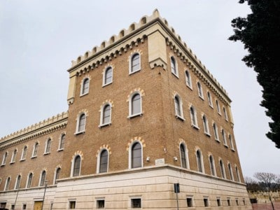 The Castel San Pietro.  This is a modestly designed building.