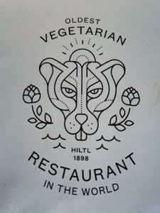 The Haus Hiltl logo that is on the menu and their business cards.  I picked a card up when we had our brunch in Zurich