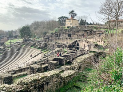 The ruins of one of the Roman amphitheatres that you can visit on a weekend in Lyon