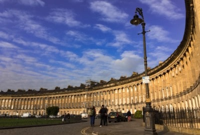 The Royal Crescent in Bath.  This is circular and you can see part of this.