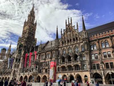 Munich's Marienplatz square. A visit to Munich is one to put on a list of ideas for short breaks.