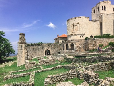 The fortress complex - the museum as well as some of the medieval walls.