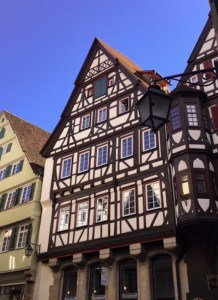 The timbered houses you can see in Tubingen