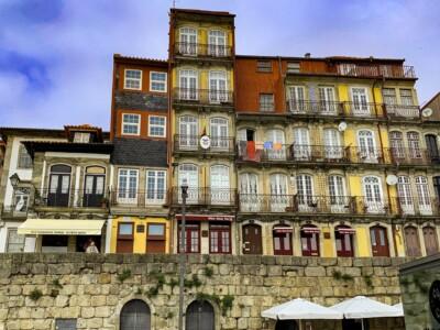 The colourful houses of Porto's Ribeira, the vibrant area alongside the river.