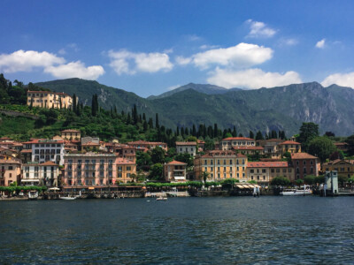 A view of Bellagio across the water on Lake Como