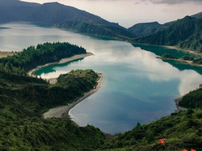 The Lagoa do Fogo lake on Sao Miguel island in the Azores.  A must if you visit Sao Miguel on one of your Europe trips 2021