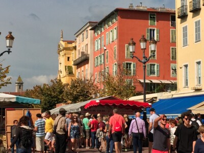Part of the market in the Cours Saleya in Nice France