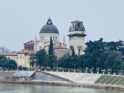 Verona's Duomo which sits alongside the river.