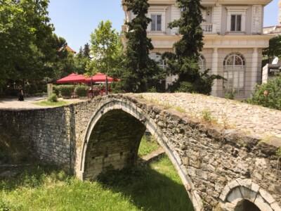 The small stone Ottoman Tanners' bridge in Tirana, Albania